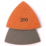 Electroplated Synthetic Diamond Polishing Pads Triangle Shape Colorful Nickle