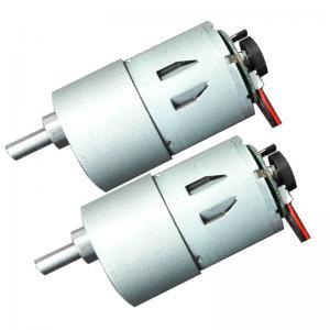 Best Low Noise 3 6 12 Volt Worm Gear Motor , Worm Drive DC Motor 50mA No Load Current wholesale
