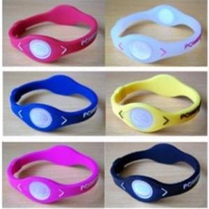 Best Silicone Energy hologram power bracelet and silicone balance bracelet with ION wholesale