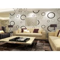 Best Geometric Non - woven Modern Removable Wallpaper with Black and White Circles wholesale