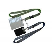 Cheap Silk Screen Printing Lanyard, Luggage Belt Lanyard With Reflection Band, Mobile Strap And Id Holder for sale