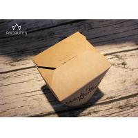 Best Kraft Paper Takeaway Food Containers Noodles Boxes Flexo Printing / Offset Printing wholesale