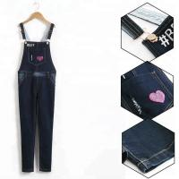 Best Trendy Suspender Trousers Jeans Bib Pants Long Section For Student Girls wholesale