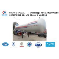Best CLW brand double BPW axles 40.5cubic road transported lpg gas tank for sale, 17tons lpg gas tank trailer for sale wholesale