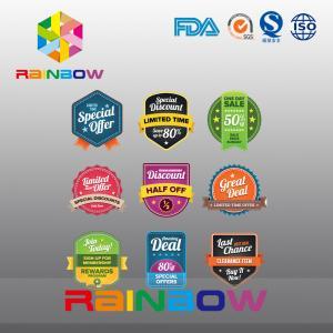Best Paper Magnet Sticker Paper Label , Irregular Silk Screen Wine Label For Health Food wholesale