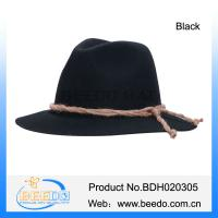 China Fashion wool black fedora oktoberfest beer hats for men and women on sale