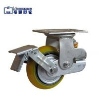 Best Thread stem with brake furniture small PU Caster wholesale