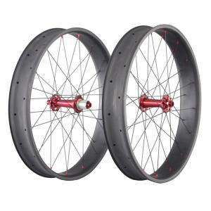 26 Inch Carbon Fat Wheels 650C 90mm 20mm Double Wall Bike Novatece Hub 32H