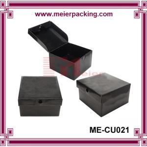 China Customized sweater paper box, matte black paper hat box ME-CU021 on sale
