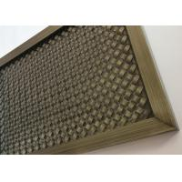 Best Frame Design Metal Architectural Wire Mesh Screen With Antique Copper wholesale