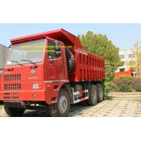 China SInotruk 6x4  70T Mining Tipper Truck , Dump Truck Bottom Thickness 12mm And HYVA Hydraulic Lifting System on sale