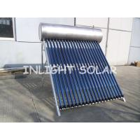 Best Food Grade Pressurized Solar Water Heater With 20 Tubes Aluminum Reflector Frame wholesale