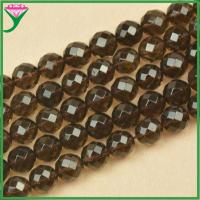 Best wholesale 12mm faceted round beads natural smoky quartz stone price wholesale