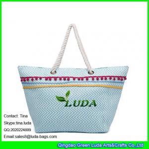 China LUDA korea fashion ladies handbag paper straw beach handbags trendy laides handbags on sale