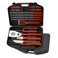China Bbq Tool Set, Made Of Head-420 Hard Wood Handle Plastic Case, Thick on sale