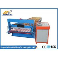 Best 2018 new type corrugated roof sheet roll forming machine made in China PLC Control Blue color PG and PI material wholesale