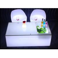 Best Mobile KTV Decoration LED Light Furniture Colors Changeable With Glass Top wholesale