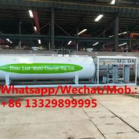 Best 2019s new customized 20cbm skid lpg gas filling station with double filling scales for sale, skid lpg tanker with scales wholesale