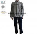 Best Cotton Grey Blue Fire Retardant Suit Jacket Pants Safety Protective Clothing wholesale