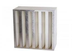 Best High Air Flow Compact HVAC Air Filters V Bank Filter With Galvanized Iron Frame wholesale