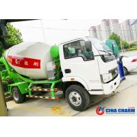 China Truck Mounted Transit Mixer Truck , Mobile Low Angle Small Cement Mixer Truck on sale