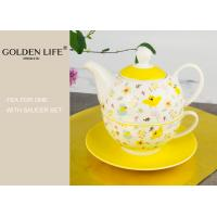 China Tea for one set porcelain with nice flower design on sale