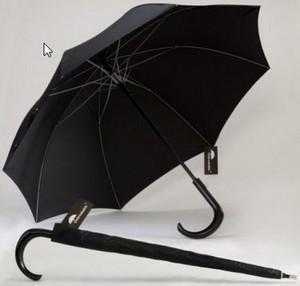 Best Black Men's Walking Stick Umbrella , Large Black Umbrella Wooden Handle14 Ribs wholesale