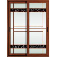 Cheap 1.4mm profile thickness white, red wood aluminum sliding glass doors for for sale