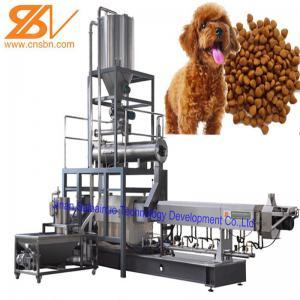 China Dog Cat Food Machine Extruder Production Line 100kg/H - 6t/H Big Range on sale