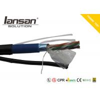 Buy cheap Outdoor CAT5E PVC+PE Cable With Messenger And Jelly FTP 24AWG Bare Copper from wholesalers