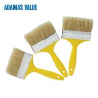 Cheap 38-44mm Length Natural Paint Brush , Yellow Handle Pure Bristle Paint Brush for sale
