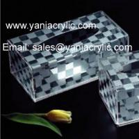 Best Lattice Perspex Facial Dispenser Recyclable Weatherability andblast Acrylic Tissue Holder For Hotel wholesale