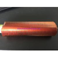 """Best 25.4MM 1"""" Finned Copper Tubing CuNi 90/10 Shape Type UNS12200 / UNS14200 wholesale"""