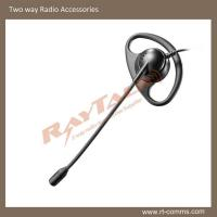 Hottest!!! Black D shape earpiece with boom microphone EBM-02 for two way radio