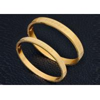 China Customized Ladies Stainless Steel Gold Bracelet Magnetic Engraving For Anniversary on sale