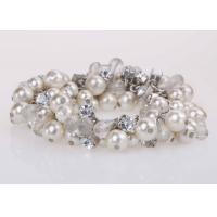 Best Costume Jewelry Pearl And Diamond Bangle Bracelet For Graduation Party / Anniversary wholesale