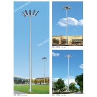 Best 50M Cricket Ground galvanized painting 1000W LED high mast lamp steel pole with double winch auto-lifting system wholesale