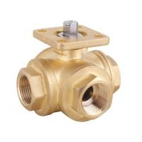 Best brass 3 way ball valve with mounting pad wholesale