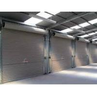 China Industrial Exterior Interior Insulated Roll up Security Doors Grey White Brick Base on sale
