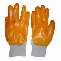 China Latex-coated Gloves, Made of 7 Gauge Cotton/Polyester Blend Knit Shell on sale