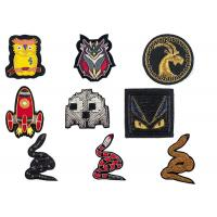 Best Indian spring silk owl deer bat rocket animal handmade embroidery badge uniform shoes badge patch wholesale