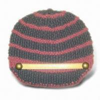 Best Fashionable Style Knitted Women Hat, Made of 30% Wool and 70% Acrylic, Handmade wholesale