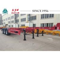 Best 40 Foot Container Trailer , Tri Axle Skeletal Trailer For Cold Chain Transport wholesale