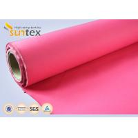 China 16oz Acrylic Coated Fiberglass Fabric Roll For Fire Blanket Fireproofing Curtain OEM colors on sale