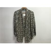 Viscose Spandex Leopard Printed Womens Tops And Blouses For Daily Wear