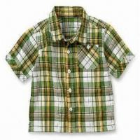 China Children's Plaid Shirt, Long Sleeves, Available in Fashionable Design, Made of Tuffa and Voile on sale