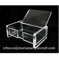 Best Foshan factory supply transparent acrylic business card holder for office wholesale
