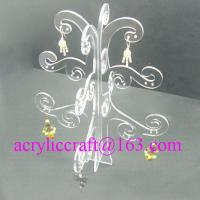 Best Popular tree shape PMMA earring holder clear acrylic jewelry display stand wholesale