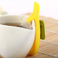 Best eco-friendly Silicone Cup Hanging Tool Gift Coffee Tea Spoon Holder Food Grade Silicone Rabbit Tea Bag holder wholesale