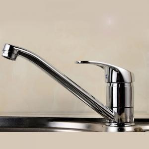 China Ceramic Disc Valve Single Handle Bathroom Faucet Hot / Cold Mixer on sale